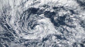 飓风风暴龙卷风,卫星看法 美国航空航天局装备的这录影的有些元素 股票视频