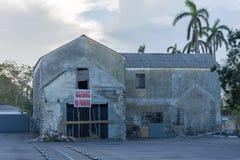 飓风马修损伤在拿骚,巴哈马 库存图片