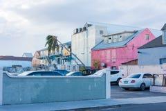 飓风马修损伤在拿骚,巴哈马 免版税库存图片