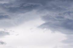 从飓风马修的剧烈的Cloudscape 免版税库存照片