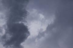 从飓风马修的剧烈的Cloudscape 库存图片