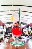 飓风鸡尾酒在硬石餐厅中 凯爱ho minh越南 免版税库存照片