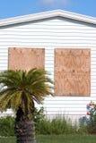 飓风panels5胶合板保护 库存图片