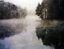 飘渺印象湖 向量例证