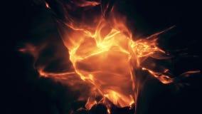 飘渺发光的抽象火焰圈 股票录像