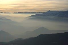 飘渺的阿尔卑斯 库存照片