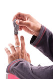 飞剪机手指钉子 库存照片