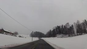 飞奔在驾车的凸轮在奥地利天空手段 股票录像