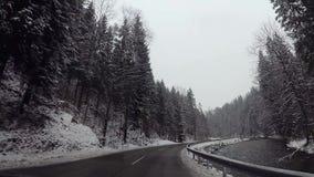 飞奔在驾车的凸轮在奥地利天空手段 影视素材