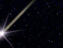 飞星天空星形 库存图片