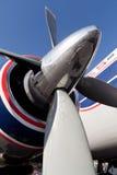 飞机五颜六色的推进器葡萄酒 免版税库存图片