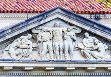 飞机产业雕象商务部华盛顿特区 免版税图库摄影
