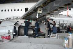 飞机修理和现代化 免版税库存照片