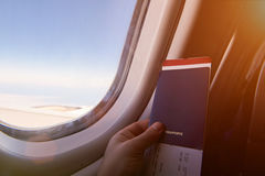 飞机假期旅途 库存图片