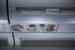 飞机内部 图库摄影