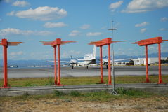 飞机准备好的起飞 免版税库存图片
