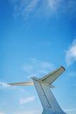 飞机减速火箭的葡萄酒尾巴细节 库存图片