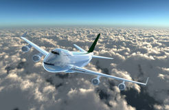 飞机凸轮飞行 免版税库存照片