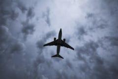 飞机剪影 免版税图库摄影