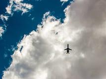 飞机剪影 库存照片