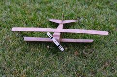 飞机双翼飞机的模型 免版税图库摄影