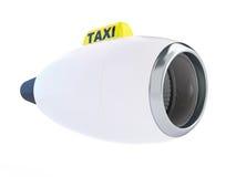 飞机发动机出租汽车 免版税库存图片