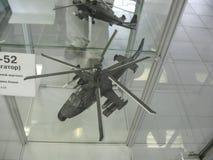 飞机发动机大厦的历史的博物馆 在立场的飞机发动机 涡轮发动机和内燃机 Mo 免版税库存照片