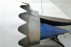 飞机发动机特写镜头 库存图片
