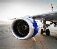 飞机发动机-飞机 免版税库存照片