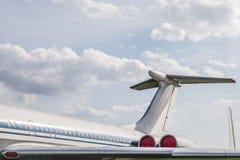 飞机喷射尾翼 免版税图库摄影
