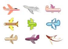 飞机图标查出的喷气机向量 免版税库存图片