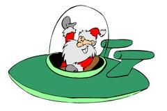 飞机圣诞老人 库存照片