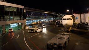 飞机在东京国际机场 图库摄影