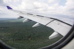 飞机在吉隆坡登陆 库存图片