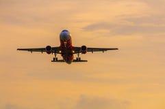 飞机在天空中 库存照片