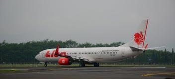 飞机在日惹机场在印度尼西亚 库存图片