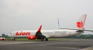 飞机在日惹机场在印度尼西亚 库存照片