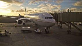 飞机在门的时间间隔 股票视频