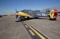 飞机在CAF WWII飞行表演达拉斯行政机场 免版税库存图片