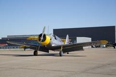 飞机在CAF WWII飞行表演达拉斯行政机场 库存照片