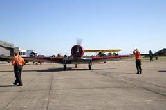 飞机在CAF WWII飞行表演达拉斯行政机场 库存图片