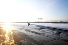 飞机场风景在机场 库存图片