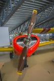 飞机型号, saab 91b-2 safir (支柱) 免版税图库摄影