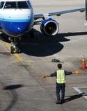 飞机处理 免版税库存图片