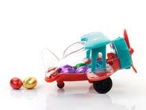 飞机复活节彩蛋玩具 库存照片