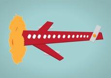 飞机太阳碰撞 免版税库存照片