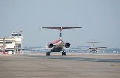 飞机尾标关闭 免版税图库摄影