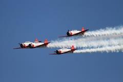 飞机展示飞行形成技能 免版税库存照片
