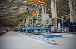 飞机工厂生产 免版税图库摄影