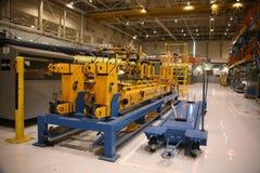 飞机工厂生产 免版税库存照片